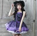 【あす楽】【即納】 ハロウィン コスプレ 魔女 小悪魔コスプ...