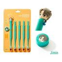 フィギュア歯ブラシセット(5本入り) JIMIN ジミン BTS BTS公式グッズ Tiny TAN