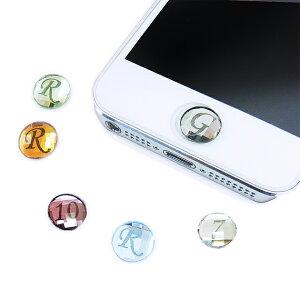 ホームボタンシール スワロフスキーホームボタン イニシャル スマートフォン アイフォン