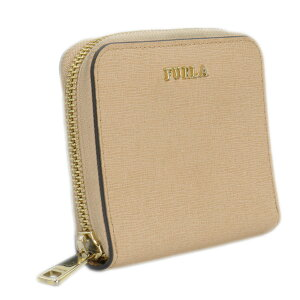 【FURLA】フルラ908287PR84B306M0ピンクベージュレザー二つ折り財布【送料無料】【中古】