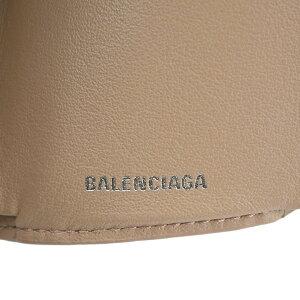 【BALENCIAGA】バレンシアガ391446DLQ0N6310PAPIERペーパーミニウォレットベージュレザー三つ折り財布【送料無料】【中古】