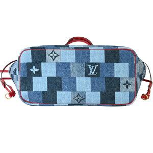 【LOUISVUITTON】LVルイ・ヴィトンM44981ネヴァーフルMMデニム・モノグラムトートバッグ【送料無料】【中古】【未使用】[新着]