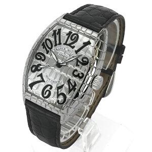 【FRANCKMULLER】フランクミュラー7880SCIRONCROトノウカーベックスアイアンクロコ自動巻きステンレススチールクロコダイル腕時計【送料無料】【中古】[新着]