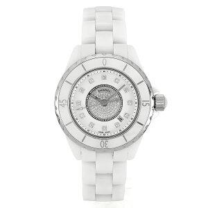 [CHANEL] Chanel J12 Quartz White Ceramic Center Diamond/12P Diamond Watch [Free Shipping] [Used] [New]