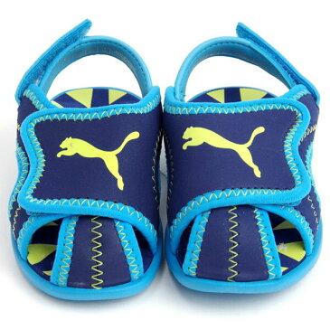 即納可☆ 【PUMA】プーマ サマーサンダル カジュアル ジュニア キッズ 子供靴(359883-16skn)