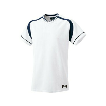 ◆◆ <エスエスケイ> SSK 2ボタンプレゲームシャツ BW2200 (1070:ホワイト×ネイビー) エスエスケイ(bw2200-1070-ssk1)