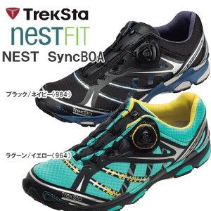 即納可☆ 【TrekSta】トレクスタ NEST Sync BOA メンズ レディース アウトドアシューズ(ebk522-27sbg)