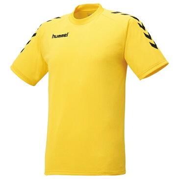 ◆◆送料無料 メール便発送 <ヒュンメル> HUMMEL プレゲームシャツ HAG3016 (3090:イエロー×ブラック)