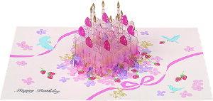 誕生日カード クリスタル ポップアップ カード (ケーキ) B48048 学研ステイフル