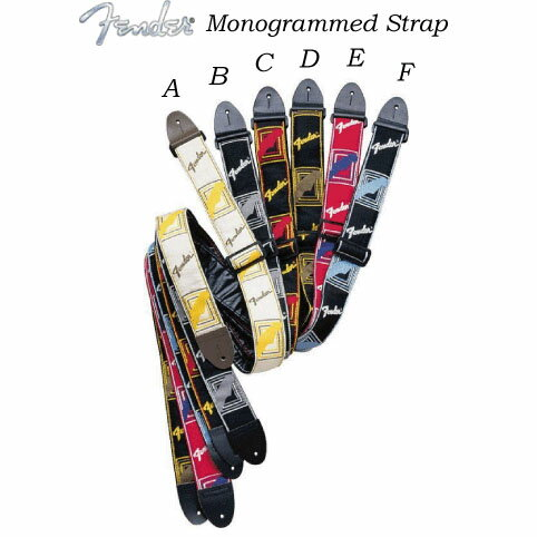 アクセサリー・パーツ, ストラップ Fender 2 MONOGRAMMED STRAPS