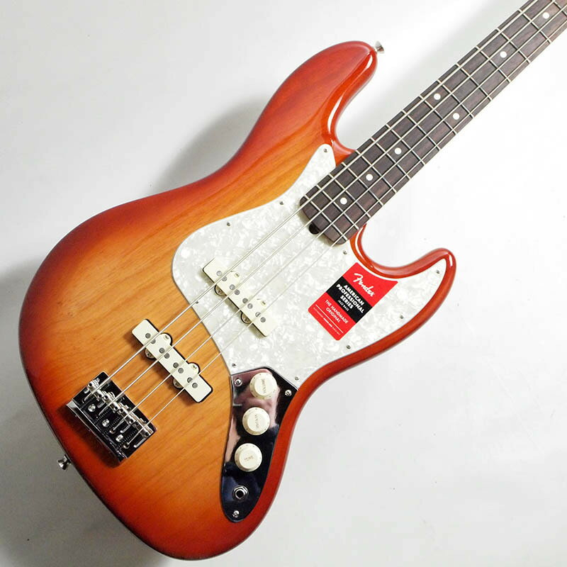 ベース, エレキベース Fender Limited Edition Lightweight Ash American Professional Jazz Bass Sienna Sunburst