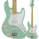 Fender Made in Japan Silent Siren Jazz Bass, Maple Fingerboard, Surf Green【フェンダージャパンあいにゃんモデルジャズベース】