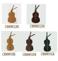 【クリックポスト(180円)可能】レザーブックマーク/クラシックギター・バイオリン