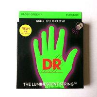 【クリックポスト(180円)可能】DRStringsDR弦エレキギター弦NGE-9グリーンネオンコーテッドLITEゲージ