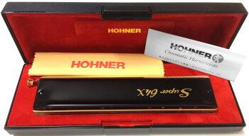 スーパー64Xホーナークロマチックハーモニカ7584/64HOHNERSuper-64X16穴安心の正規品64XC調ハープ楽器スライドハーモニカSuper64XChromaticHarmonica透明ボディブラックステインカバーハモニカケース付
