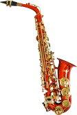 アルトサックス レッド オリジナルオーダー サックス 楽器 本体 ケース付き 初心者 セット 初心者 管楽器 alto sax saxophone red (ケルントナー KAL-62 同等)