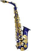 アルトサックス ブルー オリジナルオーダー サックス 楽器 本体 ケース付き 初心者 セット 初心者 管楽器 alto sax saxophone blue (ケルントナー KAL-62 同等)
