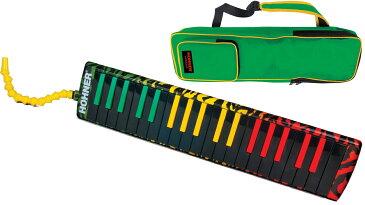 HOHNER ( ホーナー ) 鍵盤ハーモニカ エアボード ラスタ37 メロディカ 37鍵 黒鍵 楽器 本体 吹き口 ホース ケース 付き 37キー melodica Airboard Rasta 37