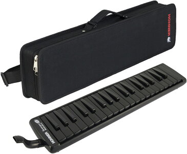 HOHNER ( ホーナー ) スーパーフォース37 メロディカ 37鍵 鍵盤ハーモニカ ブラック いわゆる ピアニカ 同等品 黒色 本体 ケース 立奏用 吹き口 ホース 付き 送料無料