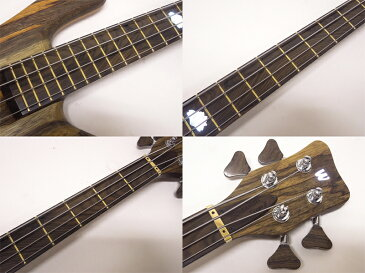 Warwick ( ワーウィック ) Custom Shop Streamer Stage-II 4st Black Korina Top with White Lotus LED ( Natural Oil Finish)