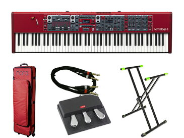 CLAVIA Nord Stage 3 88 ライブセット 1 ◆【送料無料】【88鍵盤】【ピアノ】【オルガン】【シンセサイザー】【DTM】【DAW】【smtb-k】