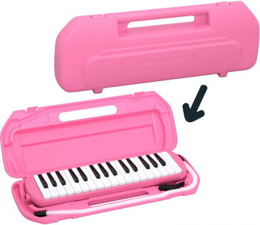 Kikutani ( キクタニ ) ピンク 32鍵 鍵盤ハーモニカ 1台 立奏用唄口 卓奏用パイプ セット 楽器 ケース付き 鍵盤楽器 MELODY MATE PIANO MM-32 PINK 一部送料追加 北海道/離島/沖縄不可