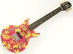 Woodstics Guitars ( ウッドスティック・ギターズ ) WS-MINI ALOHA ( PINK & YELLOW )【横山健 アンプ内蔵 ミニギター 】