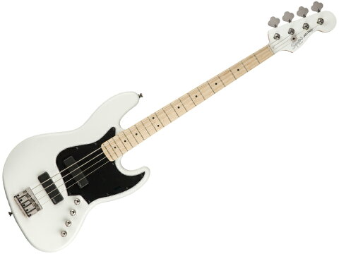 SQUIER ( スクワイヤー ) Contemporary Active Jazz Bass HH Flat White【ジャズベース by フェンダー】