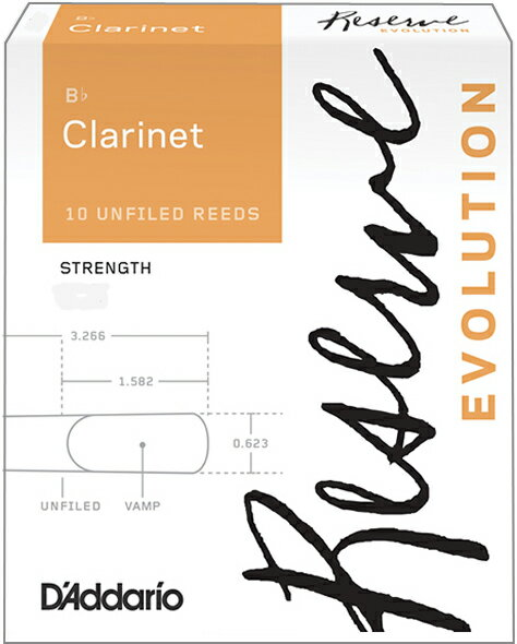木管楽器用アクセサリー・パーツ, リード  DAddario Woodwinds ( ) DCE10355 CL3.5 B 10 3.5 Reserve Evolution clarinet reed UNFILED 3.5