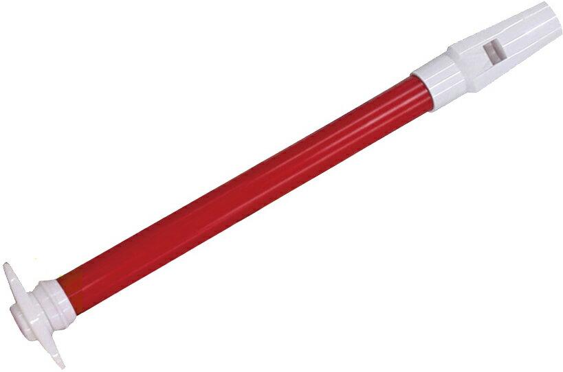 【今だけメール便のみ送料無料 保証なし】  SW-02 スライドホイッスル レッド スライド笛 プラスチック ホイッスル グリッサンド 楽器 気鳴楽器 パーカッション 打楽器 SW02 RED 赤色
