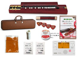 SUZUKI ( スズキ ) 特松 (とくまつ) 教本+チューナー+ミュート+ピックケース 大正琴 特松セット3 和楽器 大正琴 アコースティックタイプ 5絃 5弦