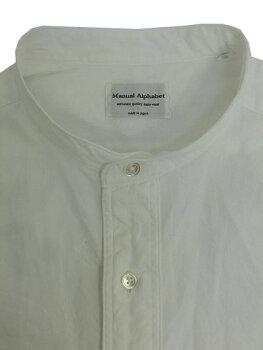 マニュアルアルファベットMAS306シャンブレー素材チェンジカラーシャツWhite