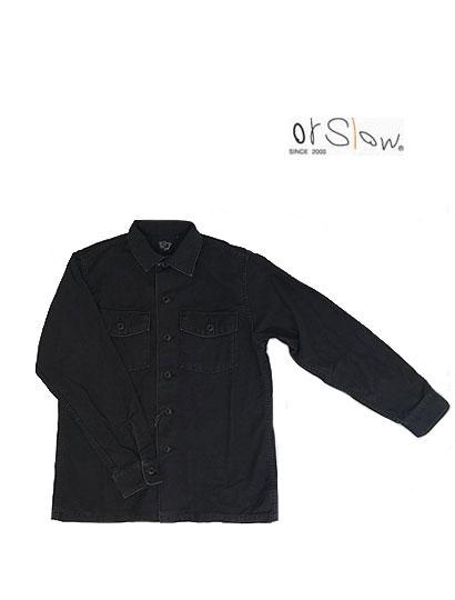 トップス, カジュアルシャツ orslow ORSLOW 03-8045-61S US ARMY SHIRTS BlackStone