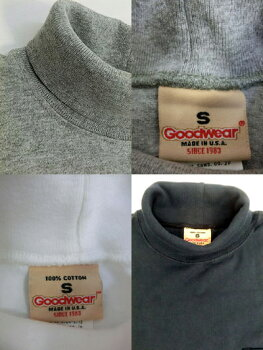 GOODWEARLONGSLEEVETURTLENECKPOCKETTEEタートルネックUSA製