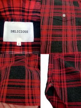 DELICIOUS(デリシャス)DS0161Pujol(プジョル)ボタンダウンシャツ秋冬フランネルタイプレッドチェック柄