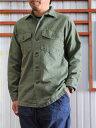 orslow(オアスロウ)03-8045-216USARMYSHIRTSアーミーシャツシャツジャケットGreenUsed