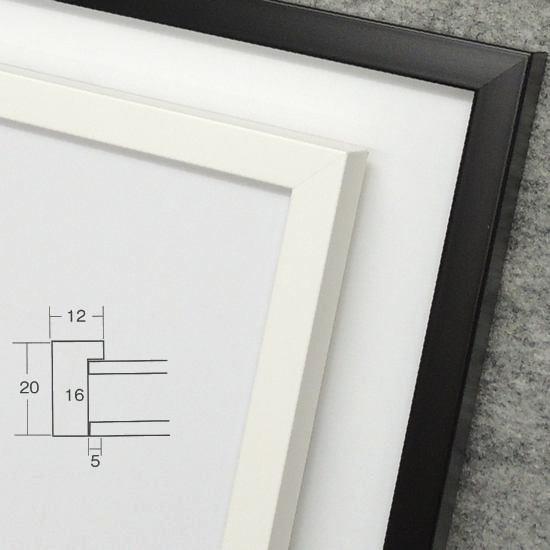 5382 255×203mm インチ デッサン額縁 水彩額 ポスターフレーム 白 黒 木製