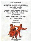 楽譜 フェレンツ/17世紀の古いハンガリー舞曲集 50510568/木管5重奏/輸入楽譜(T)