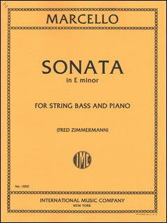 楽譜 マルチェロ/チェロ・ソナタ 第2番 ホ短調(コントラバス版)(1050/コントラバス・ソロとピアノ/輸入楽譜(T))