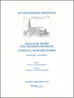 楽譜 鍵盤楽器のための全作品集 第3巻 コラールと聖歌の変奏曲(EB 8743/オルガン/輸入楽譜(T))