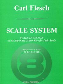[楽譜] コントラバスのための音階教本(カール・フレッシュ著)【10,000円以上送料無料】(Scale System for String Bass)《輸入楽譜》