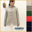 """【送料無料】ARMEN【アーメン】コットンキルトフード付きジャケット cotton quilt hooded jacket """"NAM0555"""" 綿キルト"""