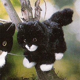 【送料無料】(一部地域を除く) ケーセン社 ぬいぐるみ 子猫 黒