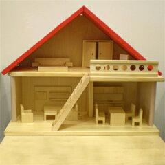 バウアー社 家具付人形の家 赤い屋根の家