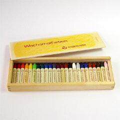 【送料無料】(一部地域を除く) シュトックマー社 蜜ろうクレヨンスティック 24色木箱