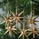 【xmas限定販売】《クリスマスオーナメント》 金の星・小 6個セット