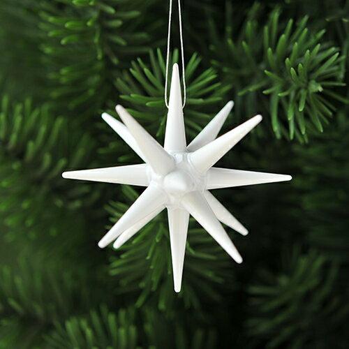 【xmas限定販売】《クリスマスオーナメント》 Albin Preissler / アルビンプライスラー 白い星・小