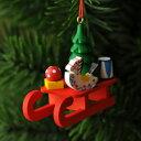 【xmas限定販売】《クリスマスオーナメント》 赤いソリとプレゼント