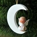 【xmas限定販売】《クリスマスオーナメント》 月の上の天使 白
