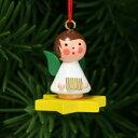 【xmas限定販売】《クリスマスオーナメント》 黄色の星にのる天使